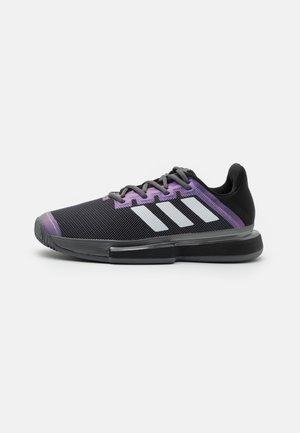 SOLEMATCH BOUNCE CLAY - da tennis per terra battuta - core black/footwear white/grey five