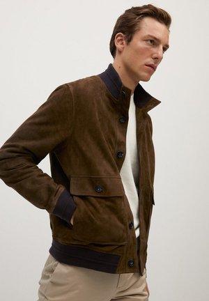 BORBONE-I - Leather jacket - braun