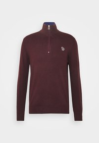 PS Paul Smith - MENS ZIP NECK ZEBRA - Jumper - dark red - 3