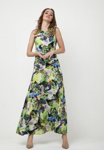 Maxi dress - hellgrün, lila