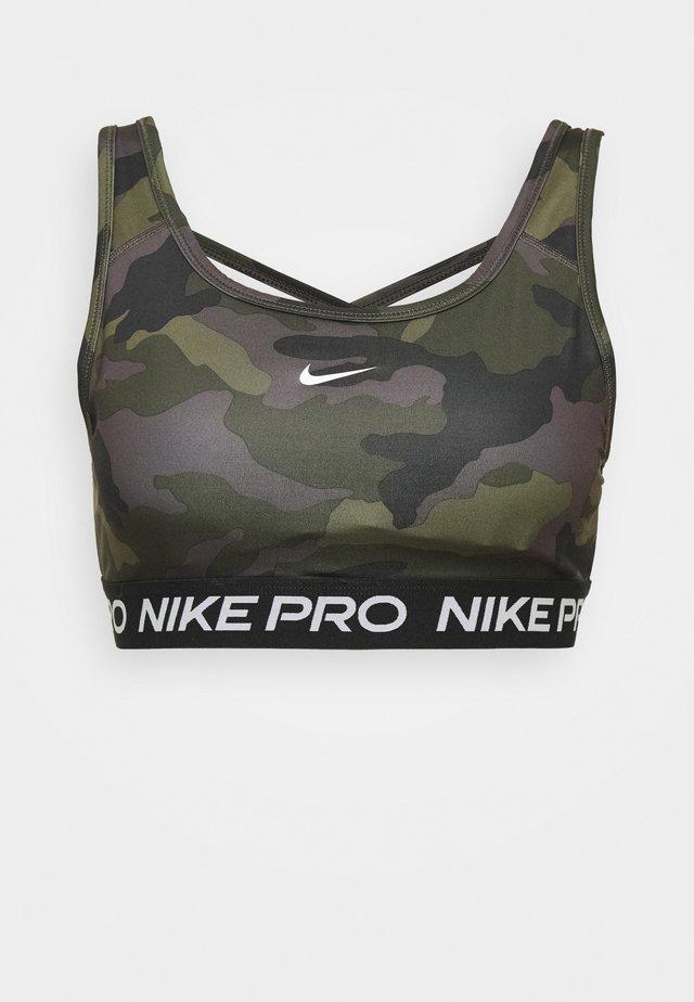 BRA CAMO - Sports bra - black/white