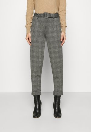 BELTED TROUSER - Pantalones chinos - grey
