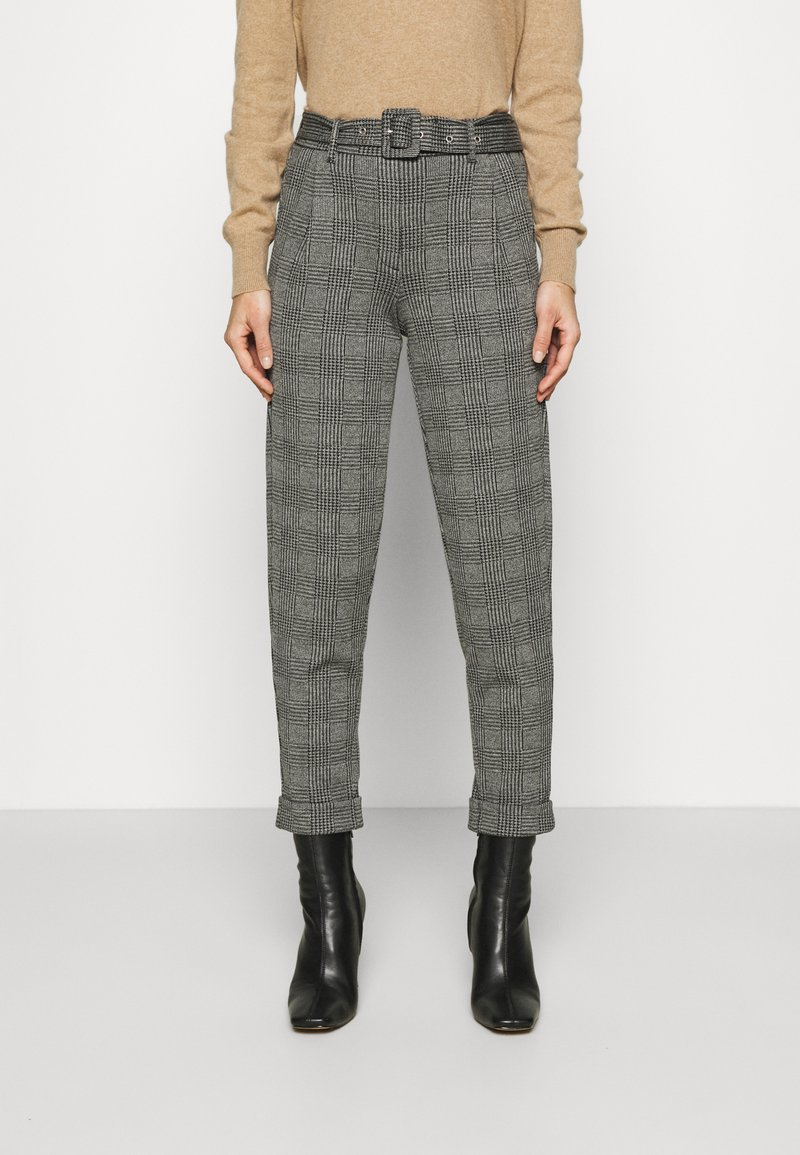 Marks & Spencer London - BELTED TROUSER - Pantalones chinos - grey