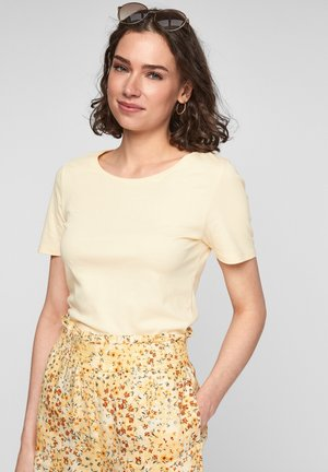 Basic T-shirt - light yellow