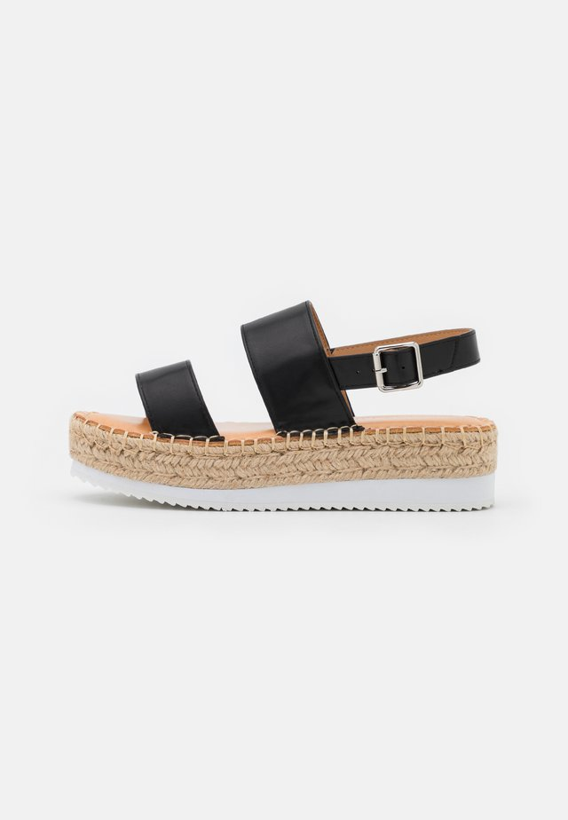 BOARDWALK - Sandalen met plateauzool - black paris
