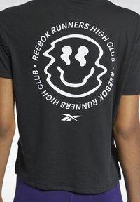 Reebok - T-shirt con stampa - black - 3