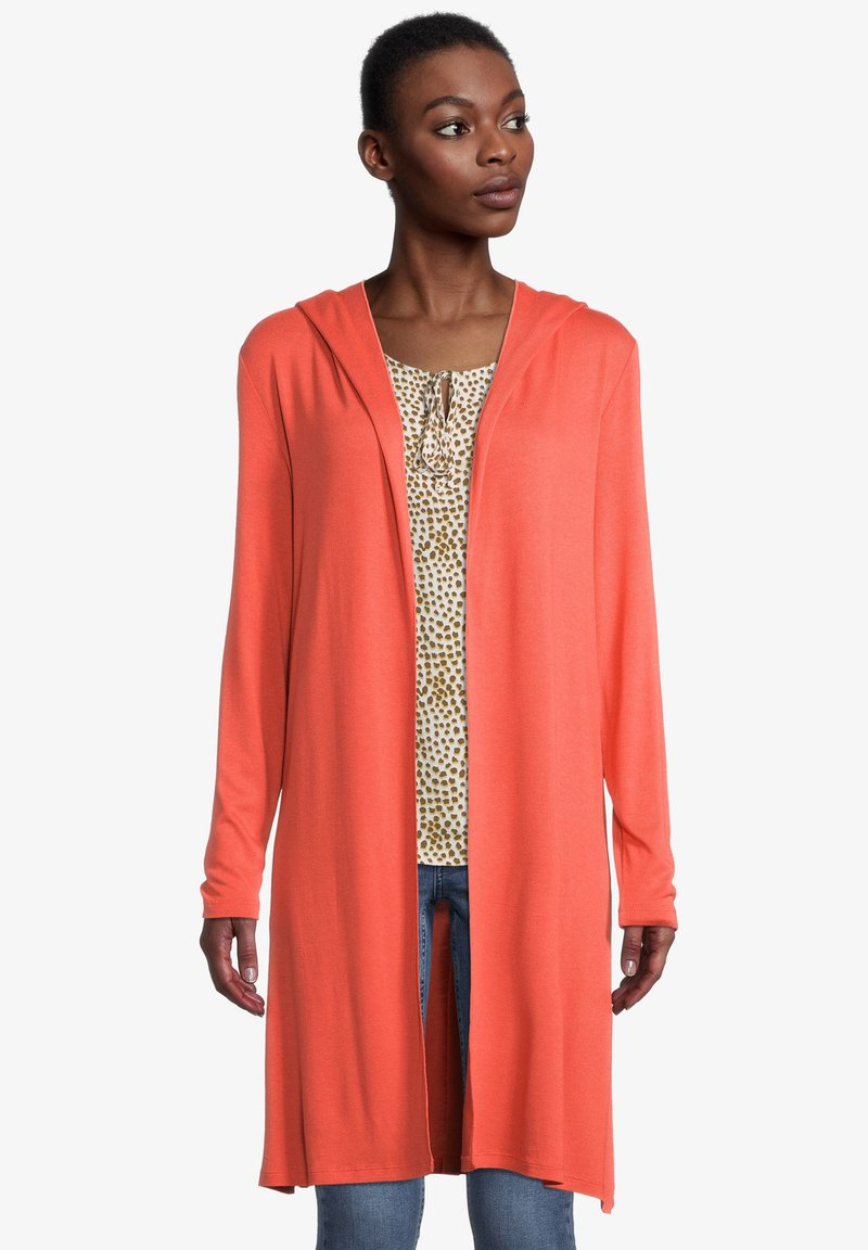 Cartoon - Cardigan - papaya orange