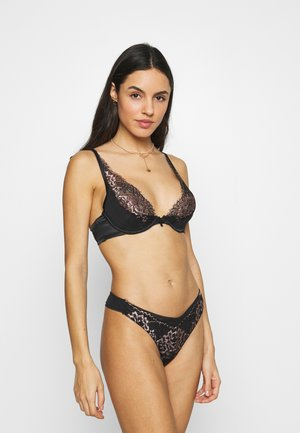 MARIA UP - Triangle bra - caviar