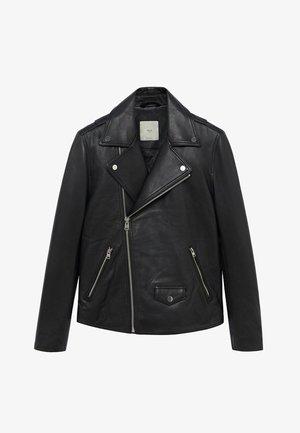 PERFECT - Leather jacket - schwarz