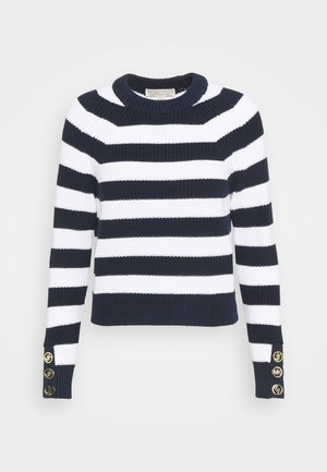BUTTON CUFF  - Jumper - dark blue