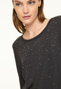 comma casual identity - Long sleeved top - anthracite - 2