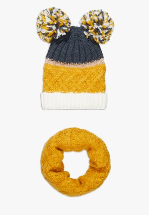 HAT SNOOD SET - Šála - mustard