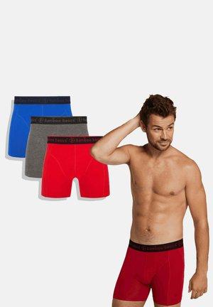 3 PACK - Panties - red grey blue