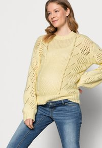 Pieces Maternity - PCMPENELOPE - Jumper - almond oil - 3