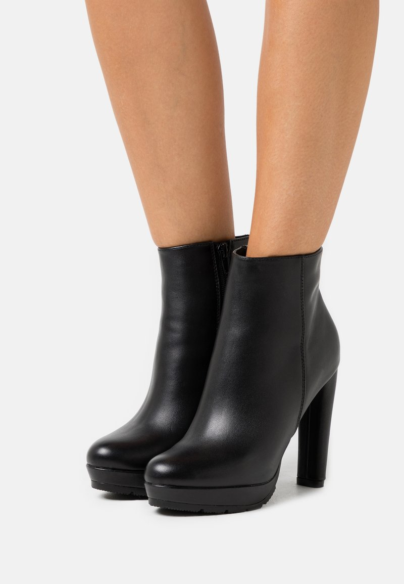 Anna Field - LEATHER - High heeled ankle boots - black