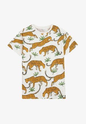 TROPICAL LEOPARD - T-shirt imprimé - off-white