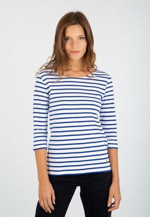 GUERANDE - MARINIÈRE - T-SHIRT - Long sleeved top - blanc/etoile