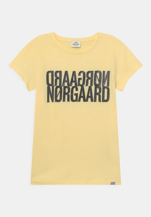 TUVINA UNISEX - T-shirts print - pale banana