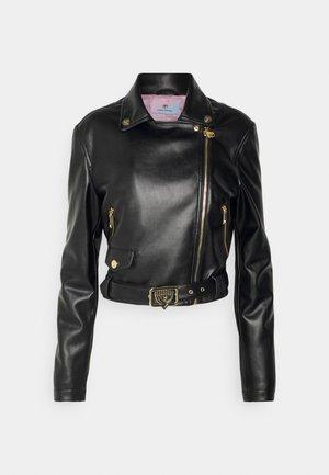 EYELIKE JACKET - Faux leather jacket - nero