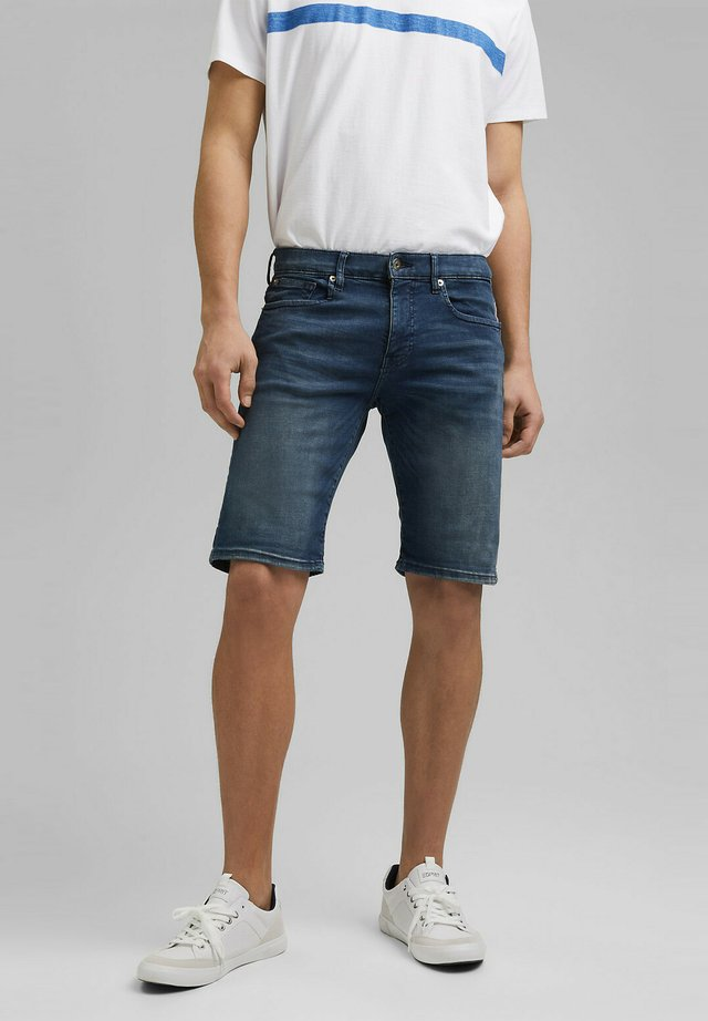 Denim shorts - blue dark washed