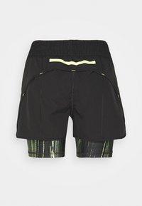 Puma - INDIVIDUAL CUP SHORTS - Pantalón corto de deporte - puma black/asphalt/soft fluo yellow - 1
