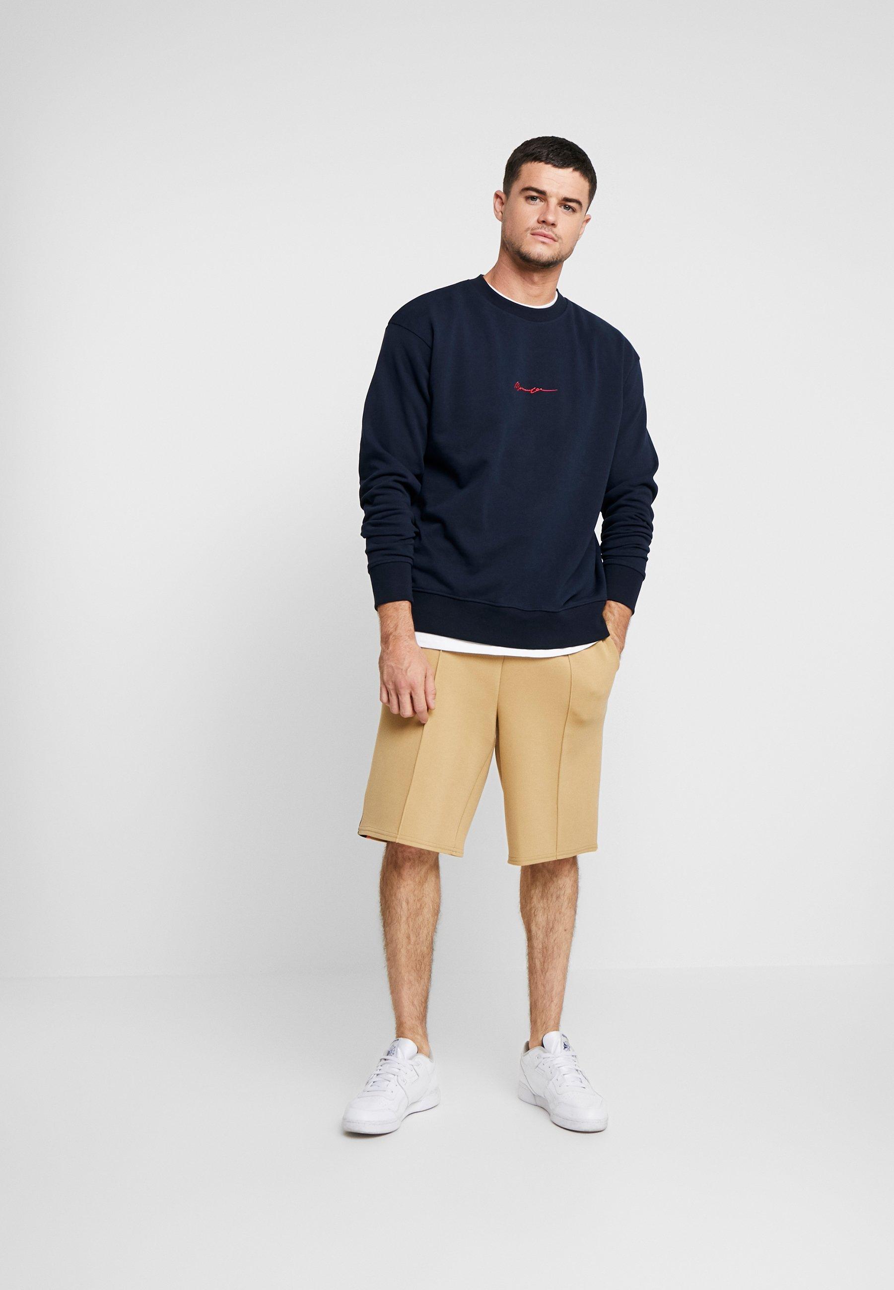 Mennace Contrast Signature - Sweatshirt Navy/mørkeblå
