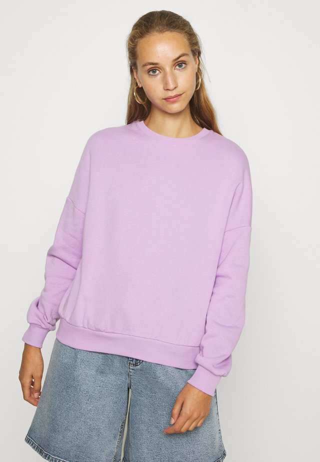 Oversized Sweatshirt - Sweater - lilac