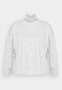 PCRELINO HIGH NECK LOUNGE  - Long sleeved top - light grey melange