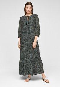 s.Oliver BLACK LABEL - Maxi dress - dark green aop - 1