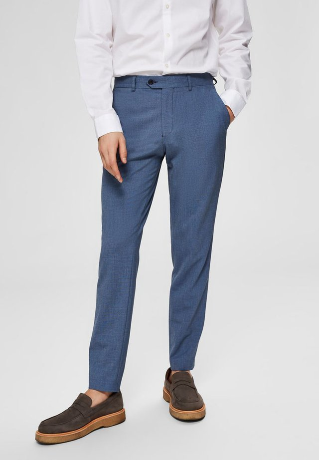 SLIM FIT - Spodnie garniturowe - dark blue