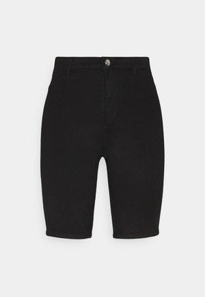 ONLROYAL BIKE - Denim shorts - black denim
