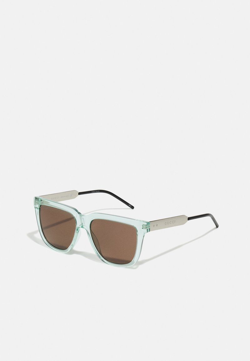Gucci - UNISEX - Zonnebril - green/silver-coloured/brown