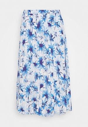SARINA PLEATED SKIRT - Spódnica trapezowa - white/blue