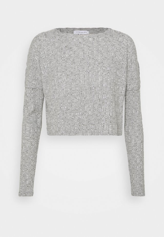 CUT AND SEW LETTUCE - Sweater - grey