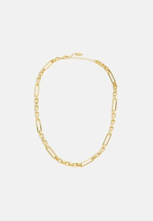 LONG LINK LINEAR CHAIN NECKLACE - Necklace - pale gold-coloured