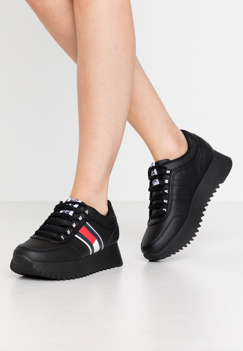 Tommy Jeans - HIGH CLEATED  - Trainers - black