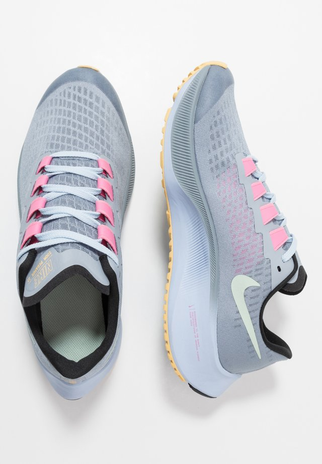 AIR ZOOM PEGASUS 37 UNISEX - Neutral running shoes - obsidian mist/hydrogen blue/black/lotus pink