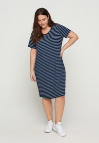 Zizzi - VFREJA DRESS - Jersey dress - mood indigo - 1