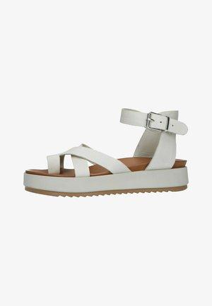 Sandalen met plateauzool - off-white