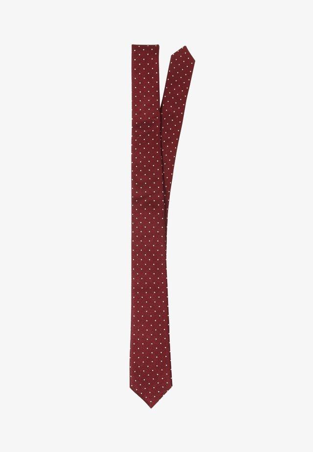 SKINNY  - Tie - bordeaux