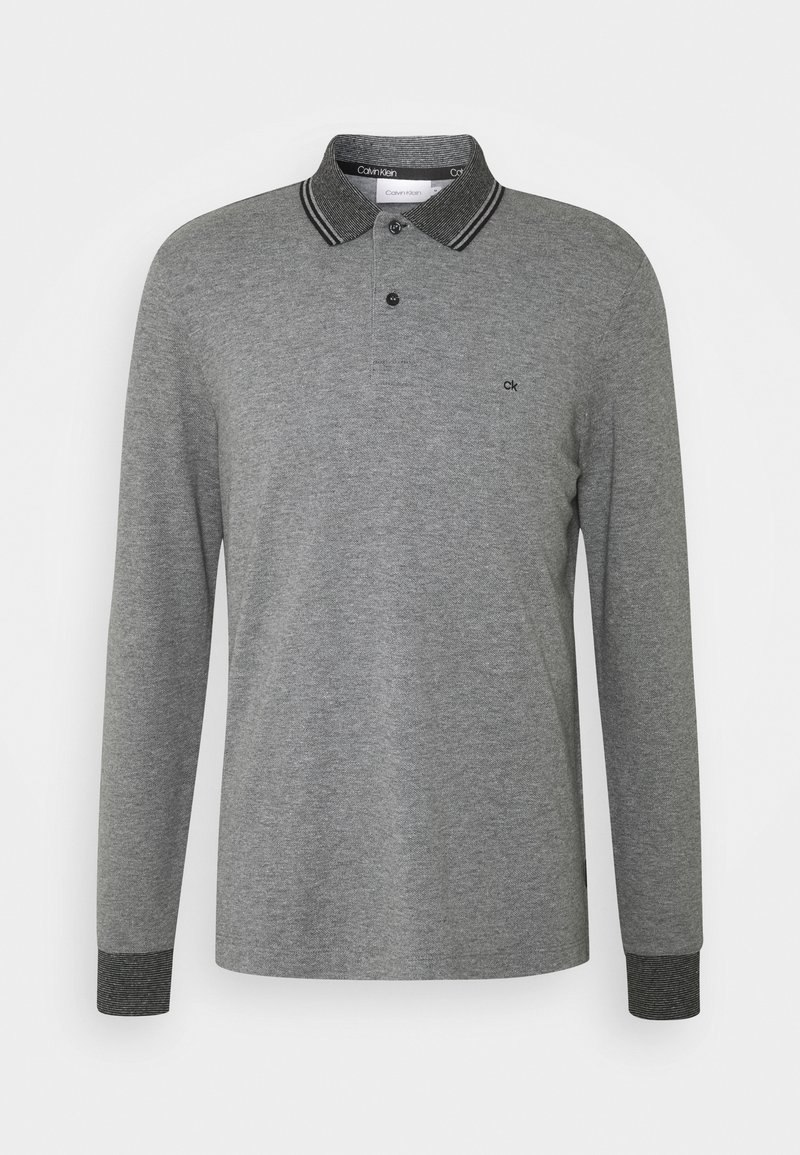 Calvin Klein - LONG SLEEVE  - Polo shirt - grey