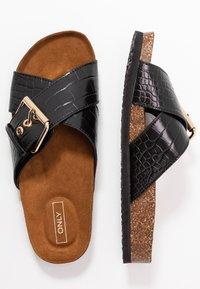 ONLY SHOES - ONLMATHILDA SLIP ON - Slippers - black - 3