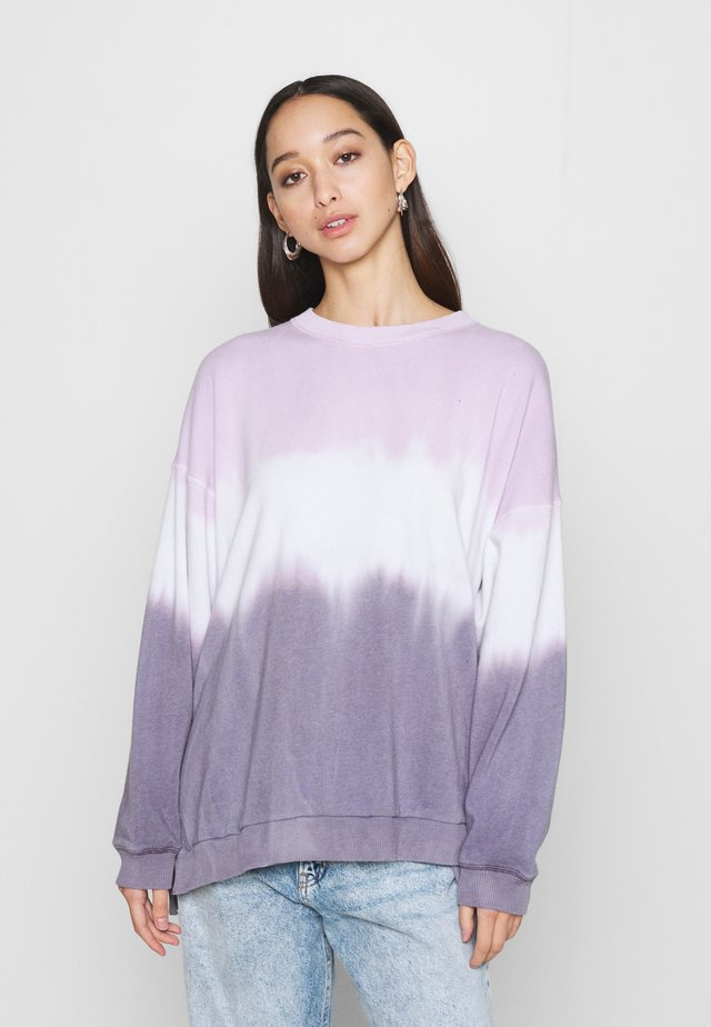 KI CREW TIE DYE - Sweatshirt - purple
