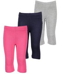 Blue Seven - 3 PACK - Leggings - Trousers - pink nebel nachtblau - 0
