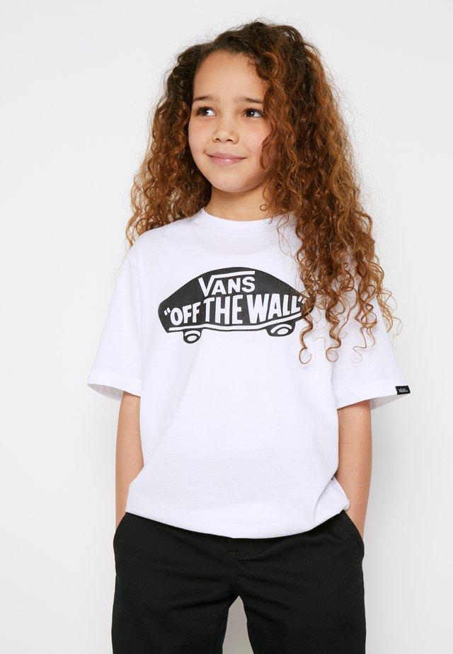 BY OTW BOYS - T-shirt imprimé - white/black