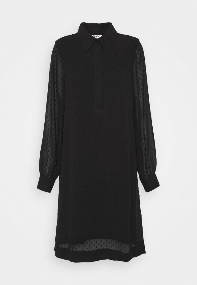 DAY FLOAT - Shirt dress - black