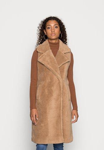 ONLEVELIN TEDDY WAISTCOAT - Smanicato - light brown