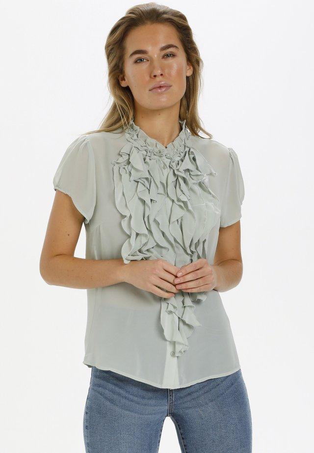 Button-down blouse - desert sage