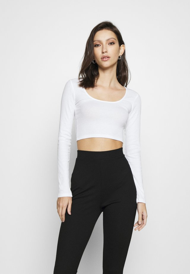 ALBA  - Long sleeved top - white light