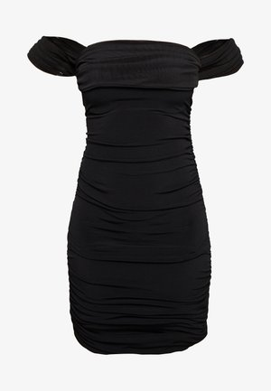 OFF SHOULDER DRESS - Shift dress - black